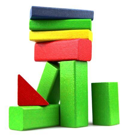 Wooden building blocks. Stock Photo - 13420931