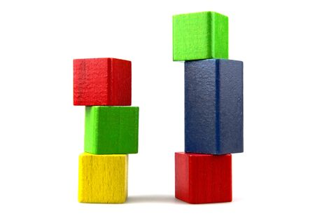 Wooden building blocks. Stock Photo - 13420681