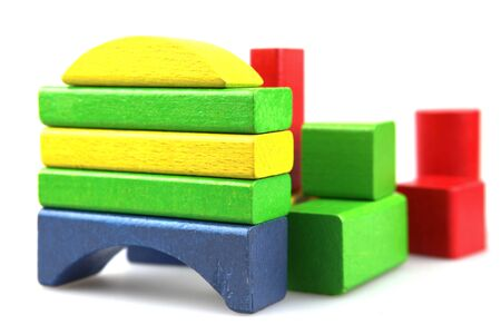 Wooden building blocks. Stock Photo - 13420217