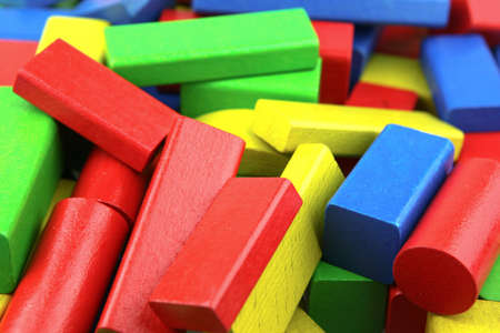 Wooden building blocks. Stock Photo - 13419636