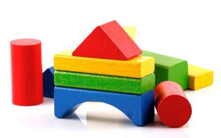 Wooden building blocks. Stock Photo - 13421154