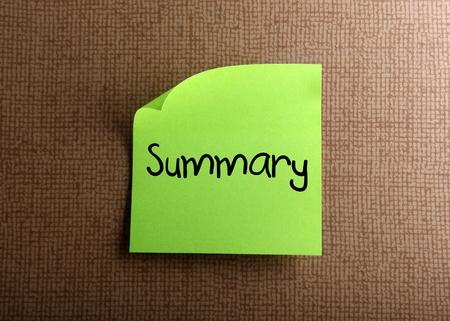 Summary 版權商用圖片 - 13680192
