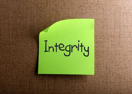 business ethics: Integrity Stock Photo