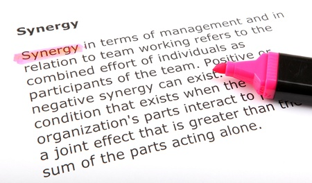 Text highlighted with felt tip pen. Stock Photo - 13783677