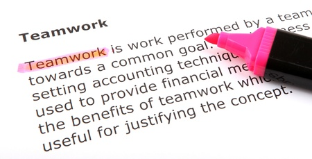 Text highlighted with felt tip pen. Stock Photo - 13783522