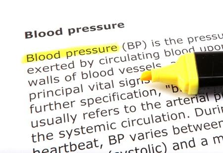 Text highlighted with felt tip pen. photo