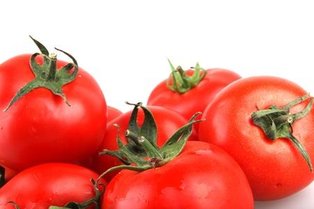 赤いトマト。