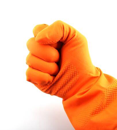 Orange glove. photo