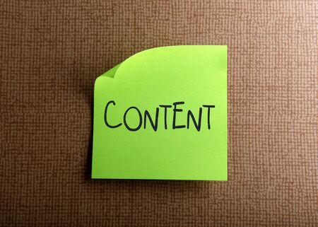 memorandum: Content Stock Photo