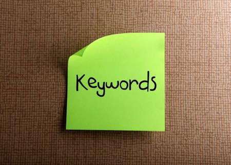 keywords: Keywords
