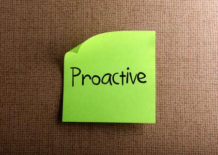 proactive: Proactive Stock Photo