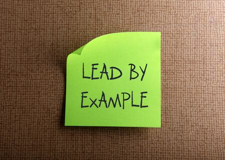 lead: Lead by example