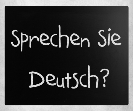deutsch: Sprechen Sie Deutsch? handwritten with white chalk on a blackboard