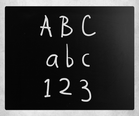 School blackboard handwritten with white chalk on a blackboard Stock Photo - 14434714