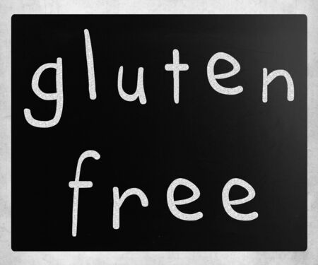 Gluten free diet concept - handwritten with white chalk on a blackboard photo