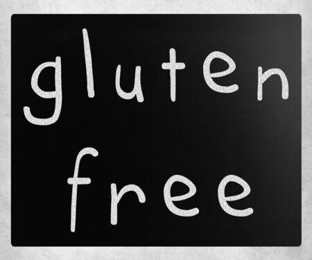 gluten free: Gluten free diet concept - handwritten with white chalk on a blackboard
