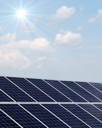 solar power plant: Solar panels at a solar power plant. Stock Photo