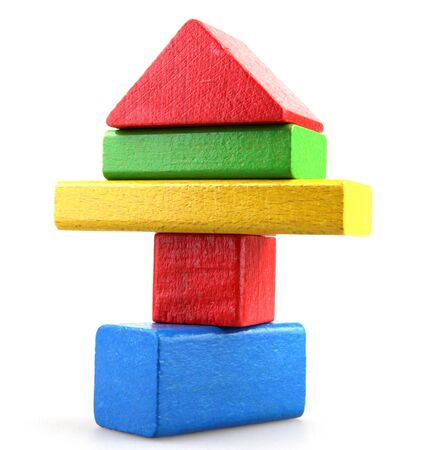Column of building blocks. Stock Photo - 15826492