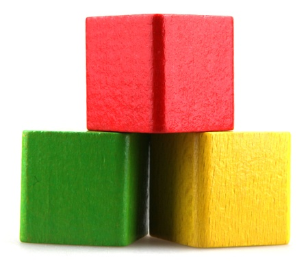 Column of building blocks. Stock Photo - 15826478