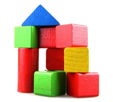 Column of building blocks. Stock Photo - 15826493