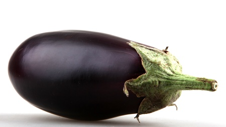 aubergine, object on a white background photo