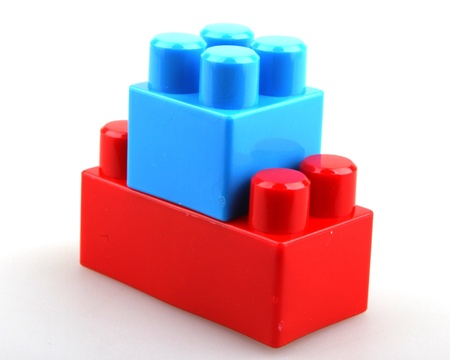 Plastic building blocks. photo