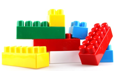 plastic bricks: Plastic building blocks.