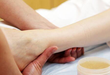 foot massage in the spa salon. Stock Photo - 16657969