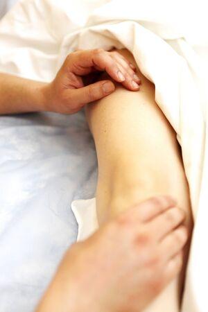 foot massage in the spa salon. Stock Photo - 16658038