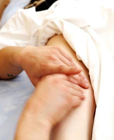 foot massage in the spa salon. Stock Photo - 16658011