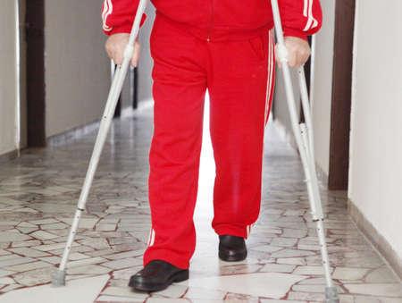 crippled: disabled Stock Photo