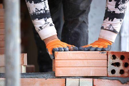 bricklayer: alba?il Foto de archivo