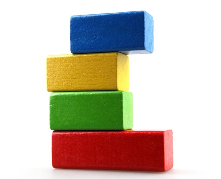 child s block: block building Stock Photo