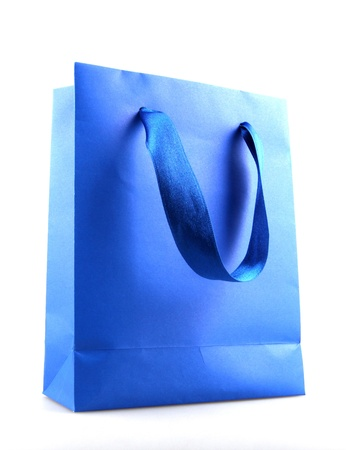 paper shopping bags on white background photo