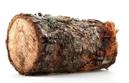 chobot: Protokoly palivového dřeva na bílém. Reklamní fotografie