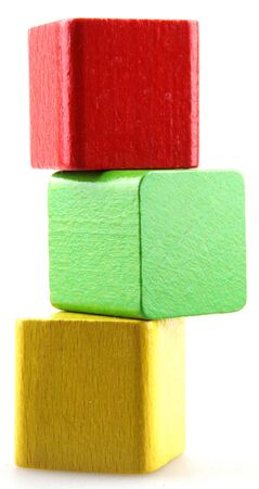 Wooden building blocks. photo