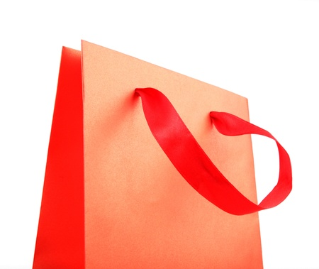 paper shopping bags on white background Stock Photo - 17193327