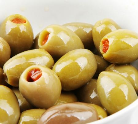 stuffed green olives photo