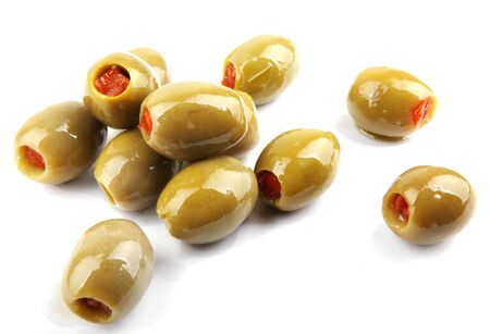 stuffed green olives photo