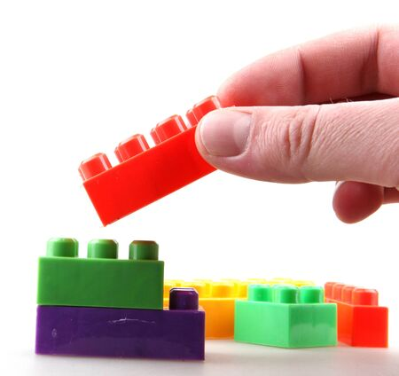 Plastic building blocks. Stock Photo - 17271223