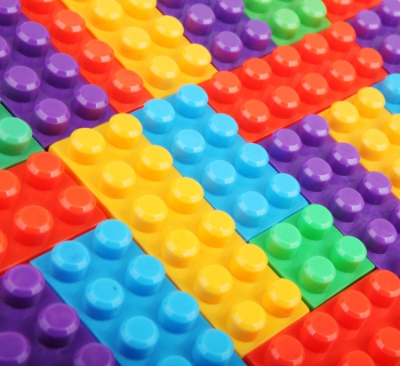 plastic building blocks. Stock Photo - 17370547