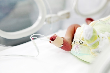 newborn baby in hospital. photo