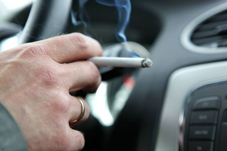 Ban smoking in all vehicles. photo