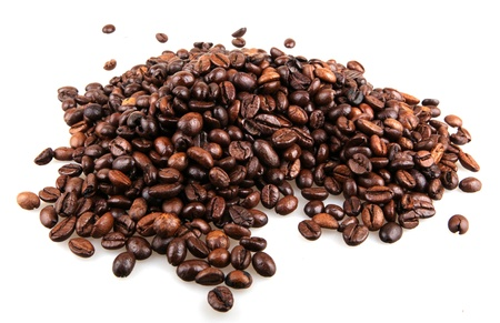 Coffee Beans isolated on white. photo