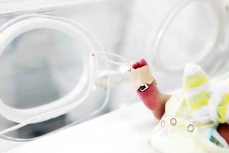 病院で生まれたばかりの赤ちゃん。