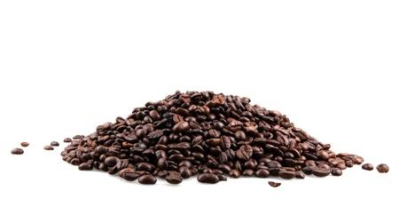alubias: Los granos de café Foto de archivo