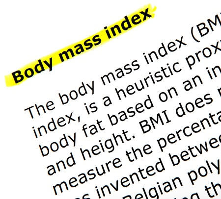royalty free photo: body mass index