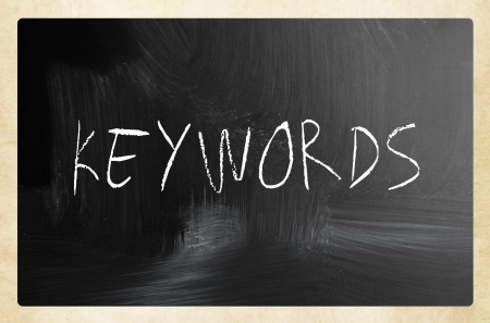 backlink: Keywords handwritten with white chalk on a blackboard Stock Photo