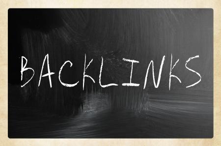 backlink: Backlink handwritten with white chalk on a blackboard