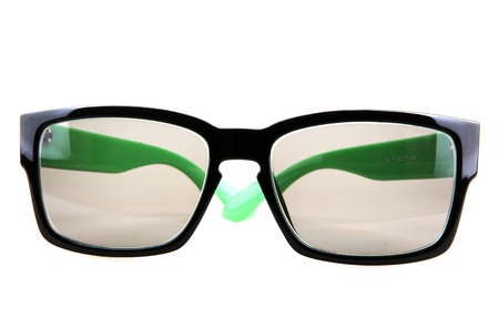 glasses on isolated white background photo